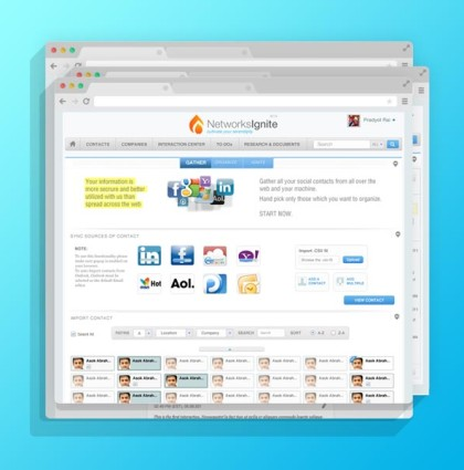 NetworkIgnite Social Application Design