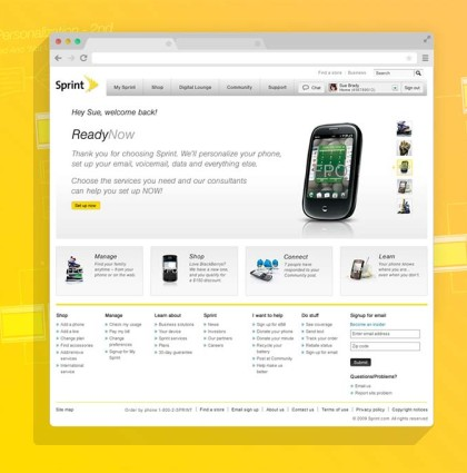Sprint.com: Complete Web, Support and Business redesign