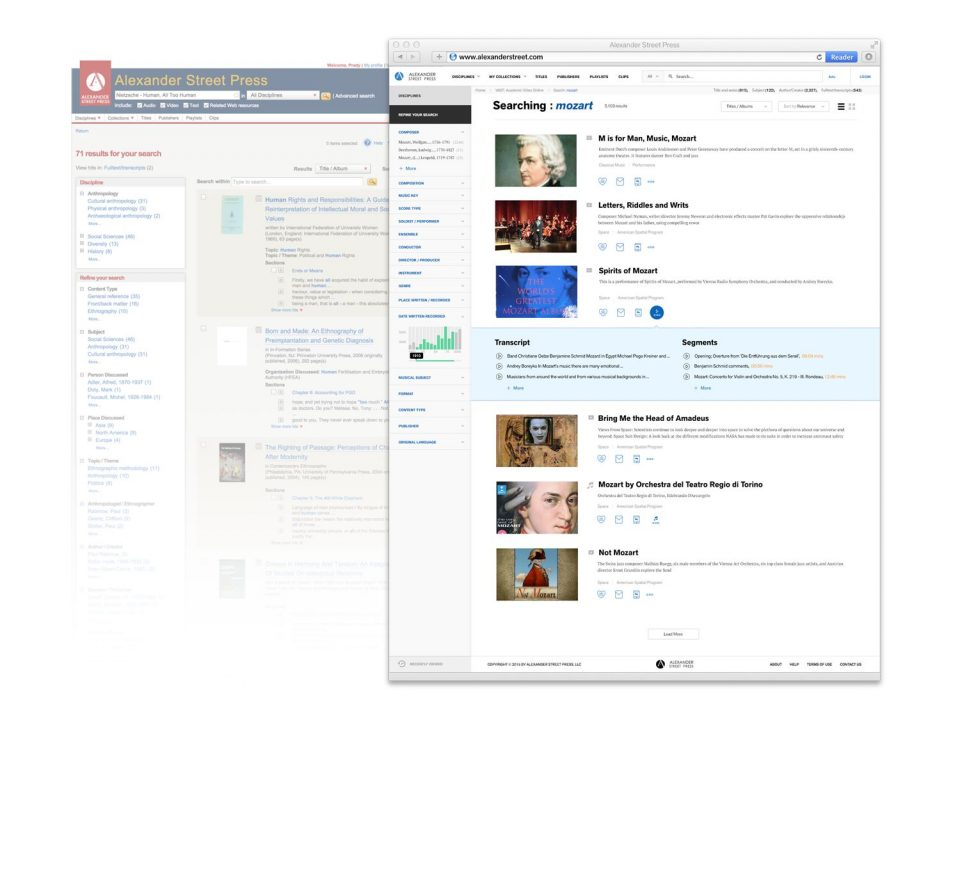 New Search Result Page -- List View