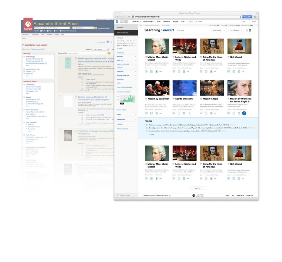 New Search Result Page -- Tile View