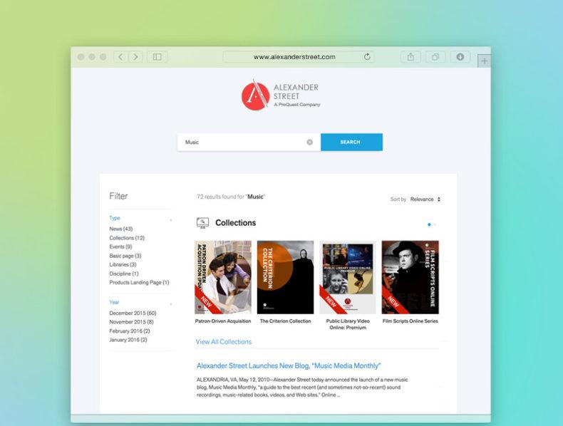 Alexander Street – Product Catalog & Corporate Website