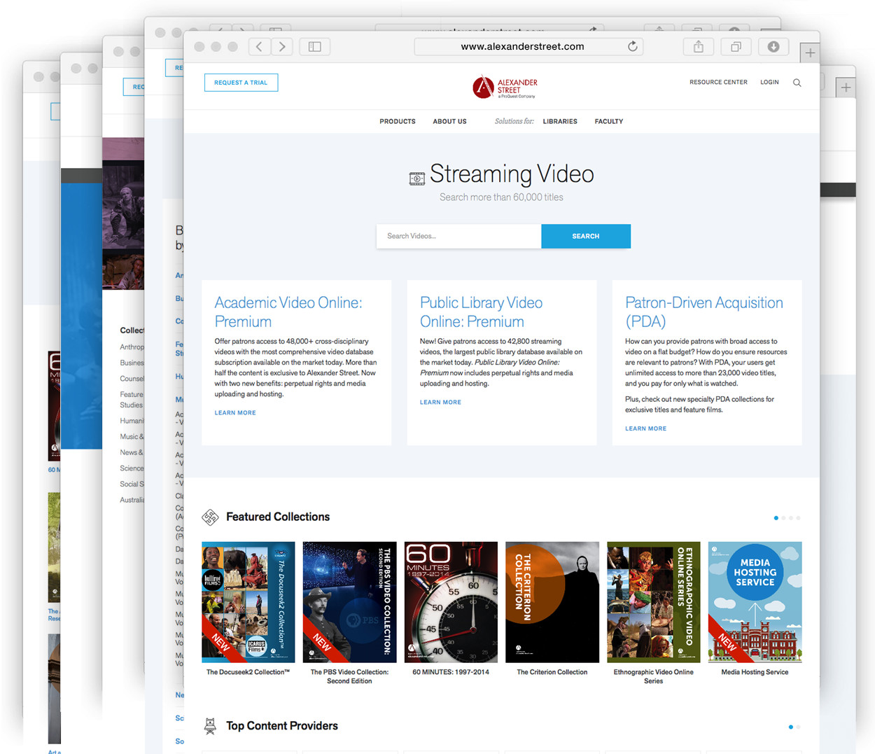Streaming Video Collections - easy to search & browse